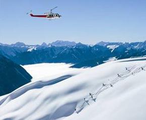 Výber heli skiingu v Kanade je veľmi široký.