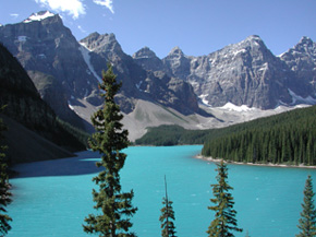 Lake Moraine pri Lake Louise, Banff National Park.